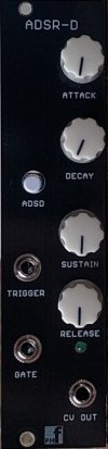 Eurorack Module ADSR-D Envelope Generator from PMFoundations