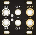 Other/unknown Dual VCA 1U Black & Gold Panel
