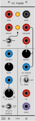 Serge Module VC Timer from Loudest Warning