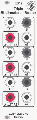 Eurorack Module ES12 - Triple Bi-Directional Router from Elby Designs