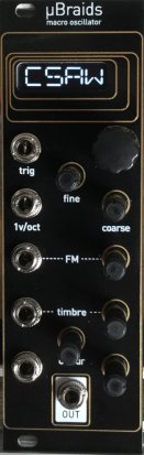 Eurorack Module Micro Braids Black & Gold Panel from Other/unknown