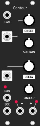 Eurorack Module Contour (Grayscale black panel) from Grayscale