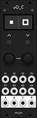 Eurorack Module uO_c (black panel) from Grayscale
