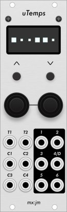 Eurorack Module uTemps (aluminum panel) from Grayscale