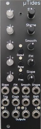 Eurorack Module MicroTides (Black w/ LED Attenuverters) from Michigan Synth Works
