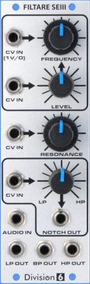 Eurorack Module Filtare SEIII from Division 6
