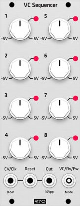 Eurorack Module RYO VC Sequencer (Grayscale panel) from Grayscale