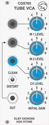 Eurorack Module CGS765 - Tube VCA from Elby Designs