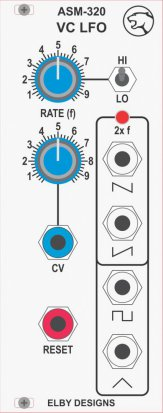 Eurorack Module ASM320 from Elby Designs