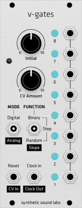 Eurorack Module V-Gates (Grayscale panel) from Grayscale