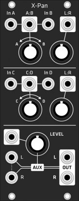 Eurorack Module Make Noise X-Pan (Grayscale matte black panel) from Grayscale