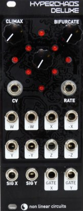 Eurorack Module Hyperchaos Deluxe - Magpie black panel from Nonlinearcircuits