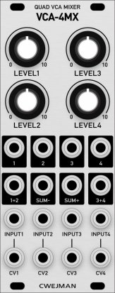 Eurorack Module Cwejman VCA-4MX (Grayscale panel) from Grayscale