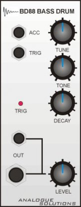 Eurorack Module BD88 Bass Drum from Analogue Solutions