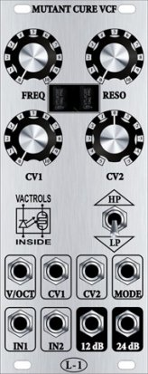 Eurorack Module Mutant Cure VCF from L-1