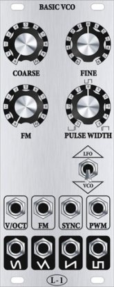 Eurorack Module Basic VCO from L-1