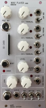 Eurorack Module .WAV PLAYER v.002 (Grey face) from ADDAC System