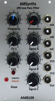 Eurorack Module AM8109 JP8 LPF from AMSynths
