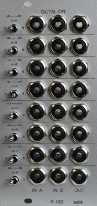 "Eurorack Module P-180 Octal switchable ""OR"" from Ladik"