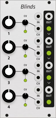 Eurorack Module Mutable Instruments Blinds (Grayscale panel) from Grayscale