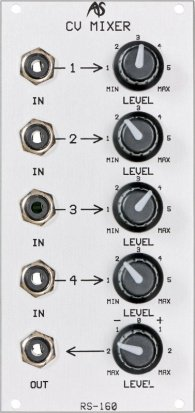 Eurorack Module RS-160 CV Mixer from Analogue Systems