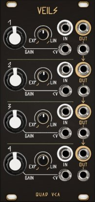 Eurorack Module Veils Black & Gold Panel from Other/unknown