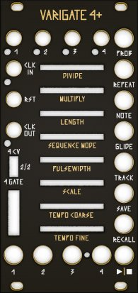 Eurorack Module Varigate 4+ Black & Gold Panel from Other/unknown