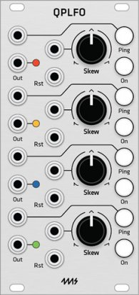 Eurorack Module 4ms QPLFO (Grayscale panel) from Grayscale