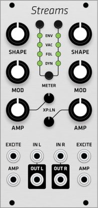 Eurorack Module Mutable Instruments Streams (Grayscale panel) from Grayscale