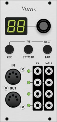 Eurorack Module Mutable Instruments Yarns (Grayscale panel) from Grayscale