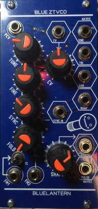 Eurorack Module Blue ZTVCO from Blue Lantern Modules