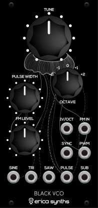 Eurorack Module Black VCO from Erica Synths