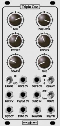 Eurorack Module Triple VCO from Modcan