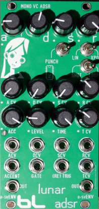 Eurorack Module Lunar VCADSR from Blue Lantern Modules