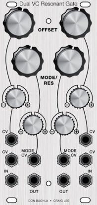 Eurorack Module Dual VC Resonant Gate from Other/unknown