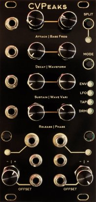 Eurorack Module Basics Utilty Module (AKA CV PEAKS - Alternate Panel) from Blue Lantern Modules
