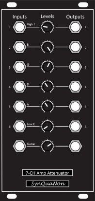Eurorack Module 7-Channel Amplifier-Attenuator from SynQuaNon