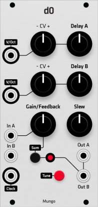 Eurorack Module Mungo d0 (Grayscale panel) from Grayscale