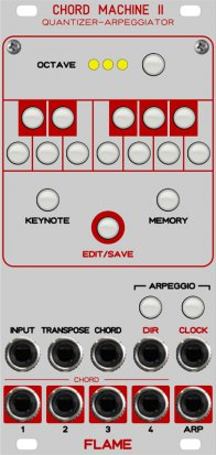 Eurorack Module CHORD MACHINE 2 (2016) from Flame