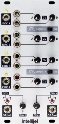 Eurorack Module Quadra Expander mk2 from Intellijel