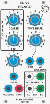 Eurorack Module ED720 ES-VCO from Elby Designs