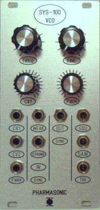 Eurorack Module SYS-100 VCO from Pharmasonic