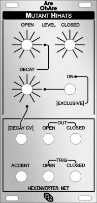 Eurorack Module AteOhAte  Mutant HiHats from Hexinverter Électronique