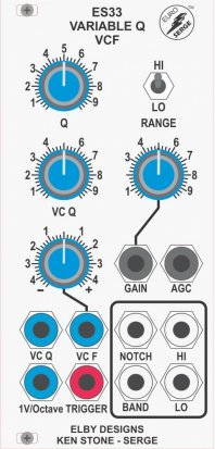 Eurorack Module ES33-VCFQ from Elby Designs
