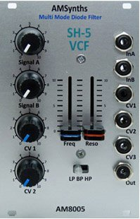 Eurorack Module AM8005 Diode Multi Mode VCF from AMSynths