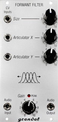 Eurorack Module Grendel Formant Filter, v2 from Rare Waves