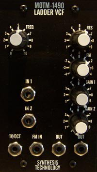 Frac Module MOTM 1490 Moog Ladder VCF from Synthesis Technology