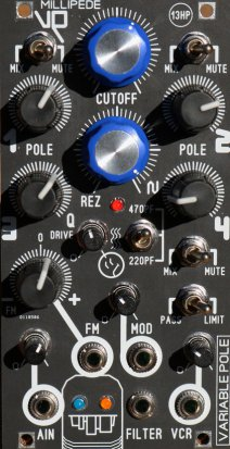 Eurorack Module Millipede VP VCF from Blue Lantern Modules