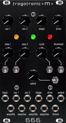 Eurorack Module m666 (original black panel version) from Trogotronic