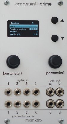 Eurorack Module ornament+crime (simple MSW panel) from Other/unknown